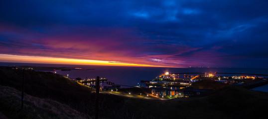 Sunrise over Helgoland