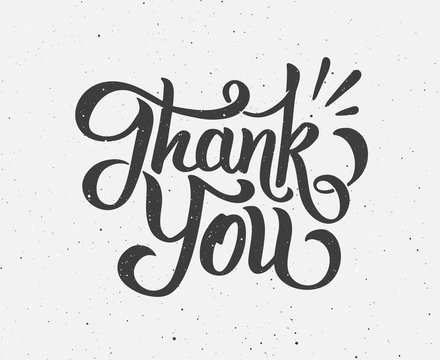 Thank You hand drawn lettering