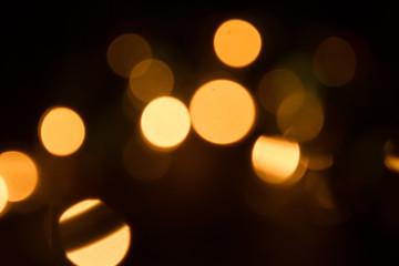 defocused xmas lights