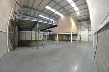empty warehouse area