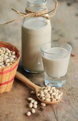 white kidney bean with milk