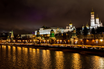 Reflections of Kremlin in Moskva River
