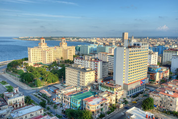 Panoramic view of  Havana with a view of the city skyline