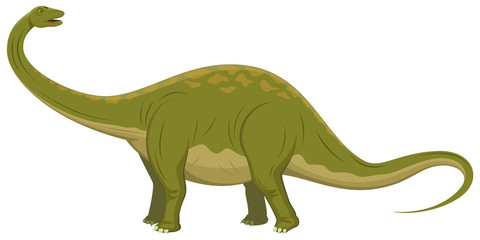 Vector illustration of a brontosaurus dinosaur.