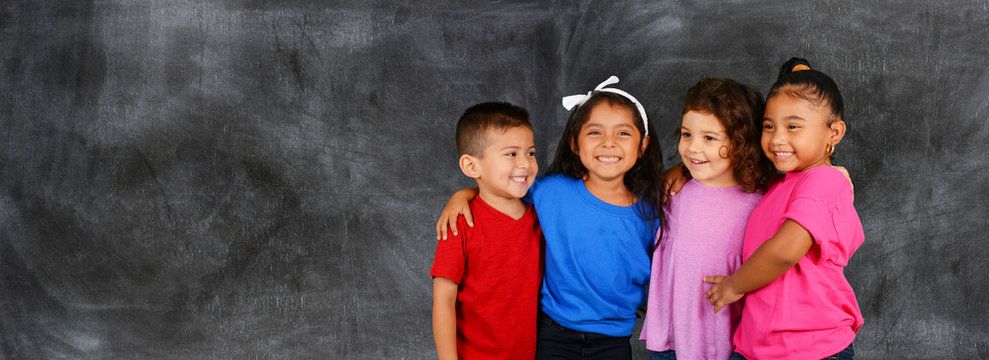 Children together at school