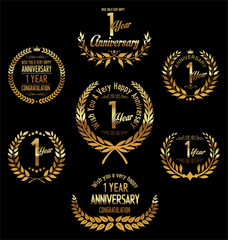 Anniversary laurel wreath 1 year