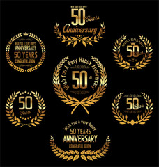 Anniversary laurel wreath 50 years