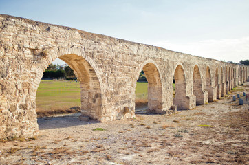 Ancient aqueduct in Larnaca, Cyprus