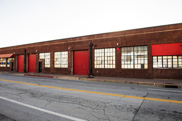 Exterior of old warehouses