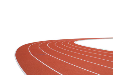 Running track on white background