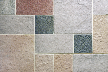 Artificial stone wall pattern