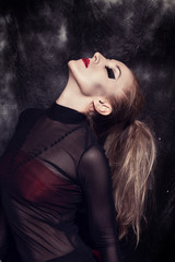 Young woman with gothic makeup