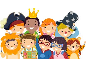 Stickman Kids Costume Day Group Photo