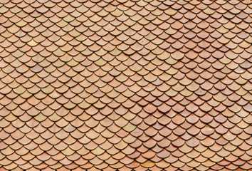 red bricks roof tiles of Buddhist temple