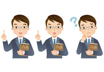 弁護士 法律家 表情セット