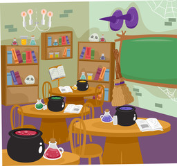Halloween Witch Kitchenroom Classroom