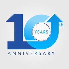 Template logo 10th anniversary, vector illustrator