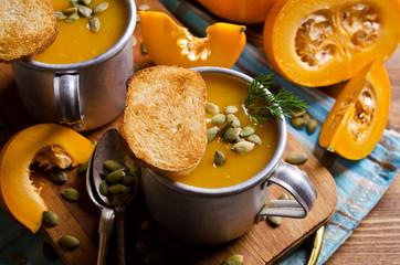 Pumpkin thick soup