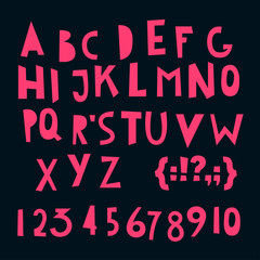 ABC Latin letters and numbers.