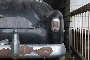 Rear of classic car