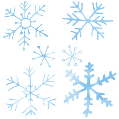 Snowflakes - hand drawn vector illustration