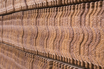 row of brown carved roofing texture and background