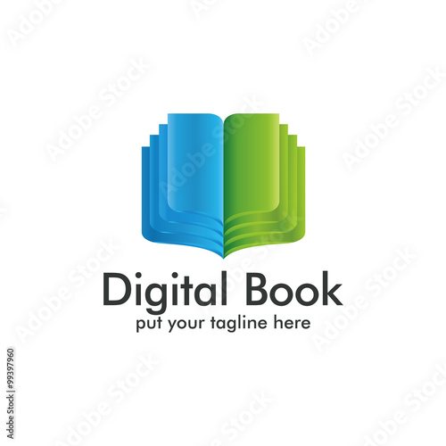 Digital Book Logo Icon Stock Image And Royalty Free Vector