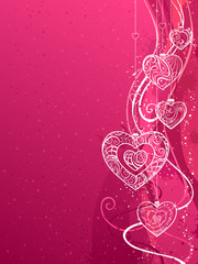 Pink Valentine's background.