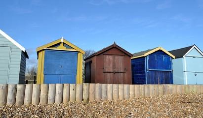 Cabanes multicolores à Calshot