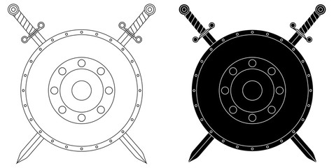 Swords and shield.