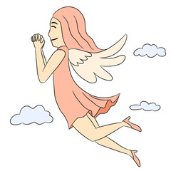 vector cartoon character angel