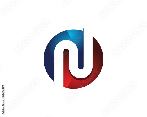 colorful modern letter n logo design template element