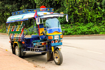 Motor tricycle car service in Laos