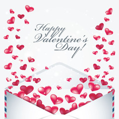 Valentine day cards design with hearts