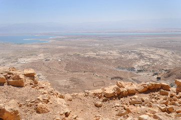 Masada, ancient fortification in the Southern District of Israel