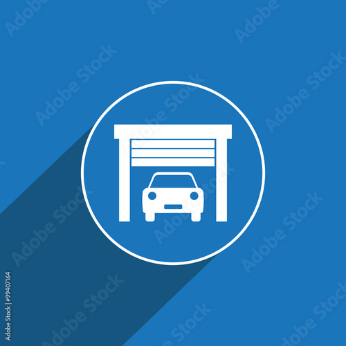 Mobile Auto Garage Signs : Quot car garage icon sign vector illustration