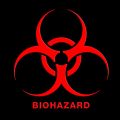 Biohazard tag with old fabric texture background