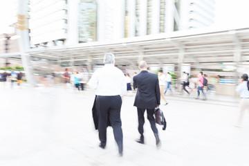 motion blur businessman