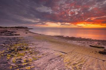 Sunset on the coast of Cape Range NP, Western Australia