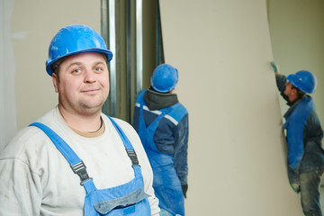 gypsum plaster board walling installation