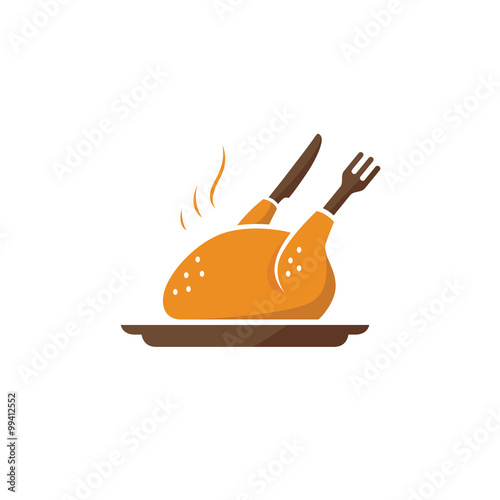 Grilled Chicken Food Logo Stock Image And Royalty Free Vector Files