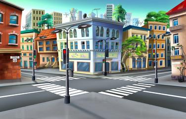 Urban crossroads. Image 01