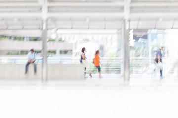 motion blur people walking