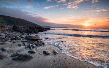 Wall Mural - Sunrise on the Cornish Coastline