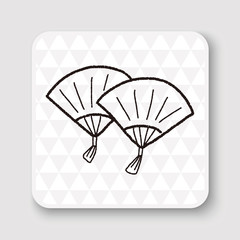 """Chinese New Year; Folding fan with Chinese blessing words """" Happ"""