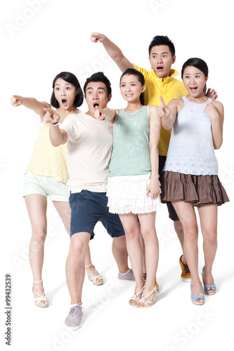 """""""Young People With A Surprise Look"""" Stock Photo And"""