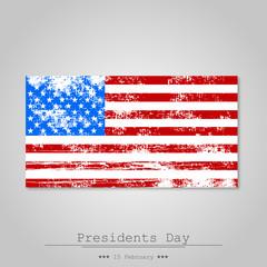 United States flag shabby on a gray background