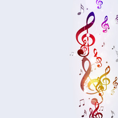 Multicolor Funky Music Notes