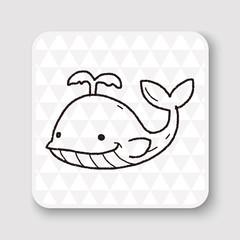 whale doodle