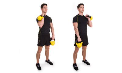 Kettlebell, Reciprocal Clean, Exercise
